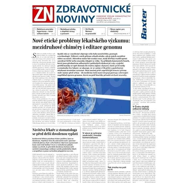 Zdravotnické noviny - 4/2016 - Elektronické noviny