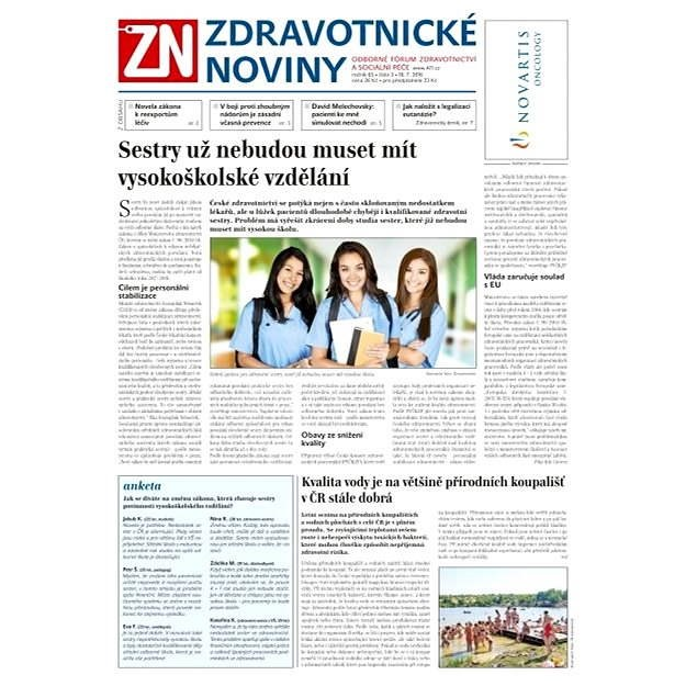 Zdravotnické noviny - 3/2016 - Elektronické noviny