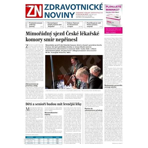Zdravotnické noviny - 14/2016 - Elektronické noviny