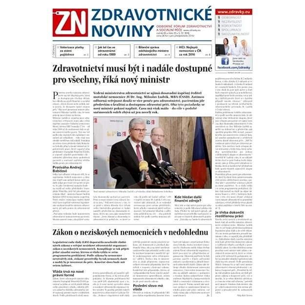 Zdravotnické noviny - pro lékaře - 23/2016 - Elektronické noviny
