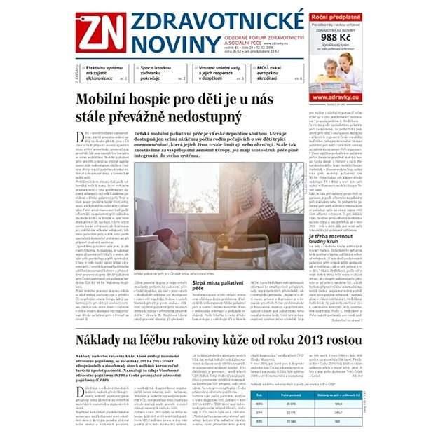Zdravotnické noviny - pro lékaře - 24/2016 - Elektronické noviny