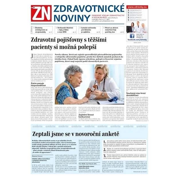 Zdravotnické noviny - pro lékaře - 1/2017 - Elektronické noviny
