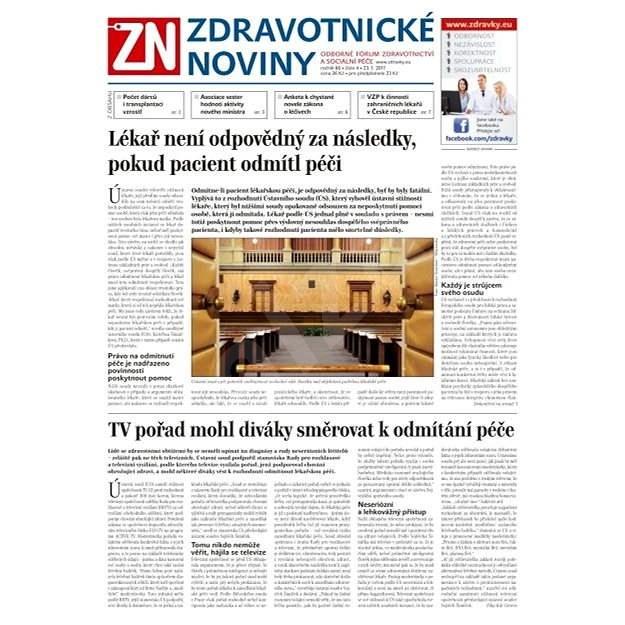Zdravotnické noviny - pro lékaře - 4/2017 - Elektronické noviny