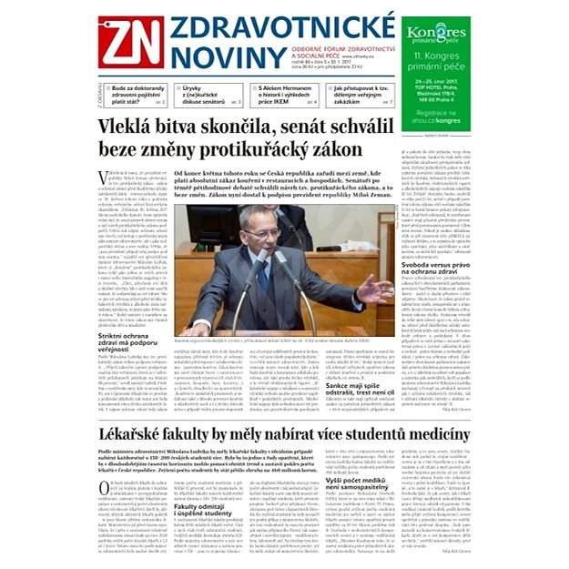 Zdravotnické noviny - pro lékaře - 5/2017 - Elektronické noviny