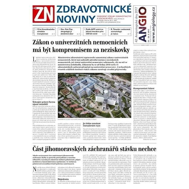 Zdravotnické noviny - pro lékaře - 8/2017 - Elektronické noviny