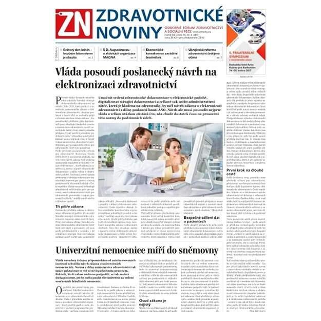 Zdravotnické noviny - pro lékaře - 11/2017 - Elektronické noviny