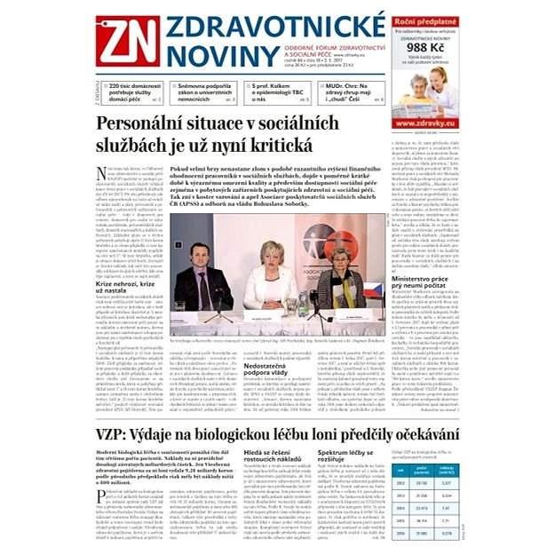 Zdravotnické noviny - pro lékaře - 18/2017 - Elektronické noviny