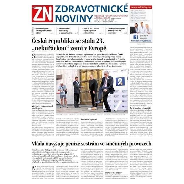Zdravotnické noviny - pro lékaře - 23/2017 - Elektronické noviny
