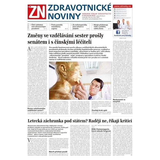 Zdravotnické noviny - pro lékaře - 25/2017 - Elektronické noviny