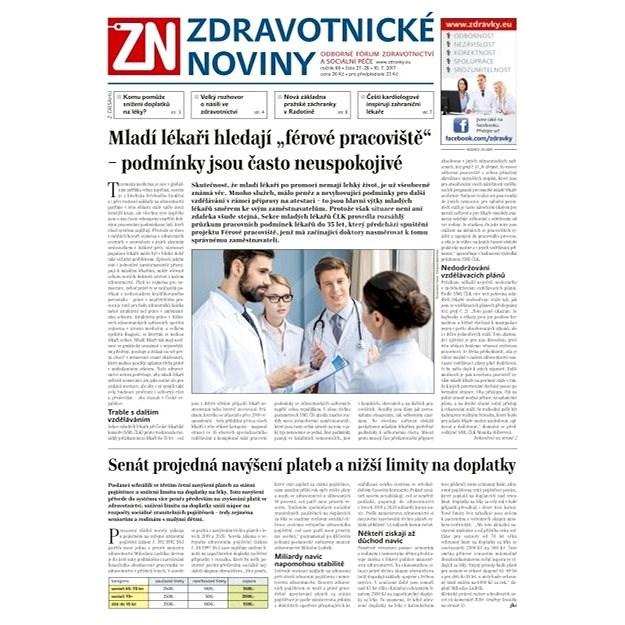 Zdravotnické noviny - pro lékaře - 28/2017 - Elektronické noviny