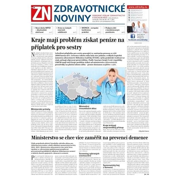 Zdravotnické noviny - pro lékaře - 30/2017 - Elektronické noviny