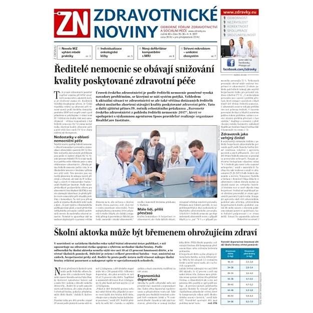 Zdravotnické noviny - pro lékaře - 36/2017 - Elektronické noviny