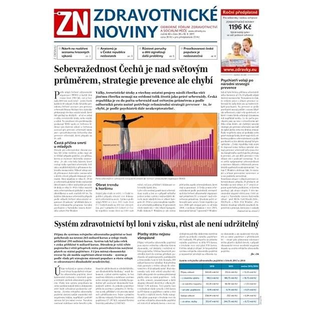 Zdravotnické noviny - pro lékaře - 38/2017 - Elektronické noviny