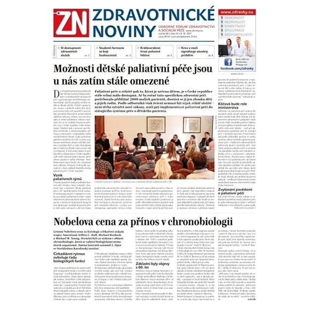 Zdravotnické noviny - pro lékaře - 41/2017 - Elektronické noviny