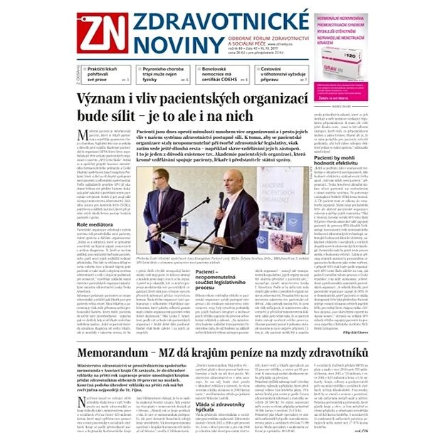 Zdravotnické noviny - pro lékaře - 42/2017 - Elektronické noviny