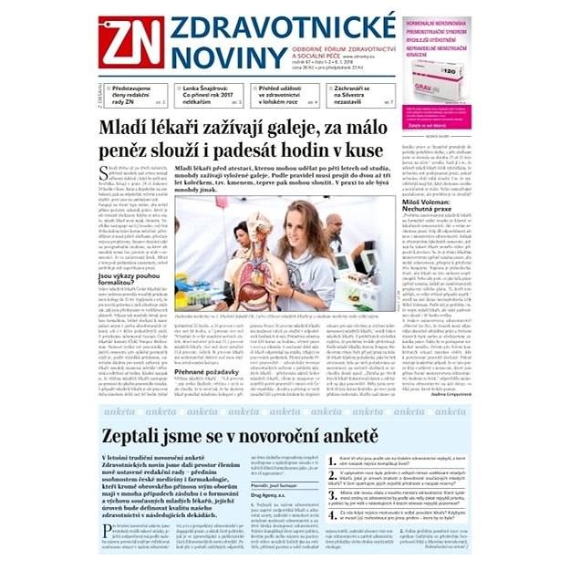 Zdravotnické noviny - pro lékaře - 1-2/2018 - Elektronické noviny