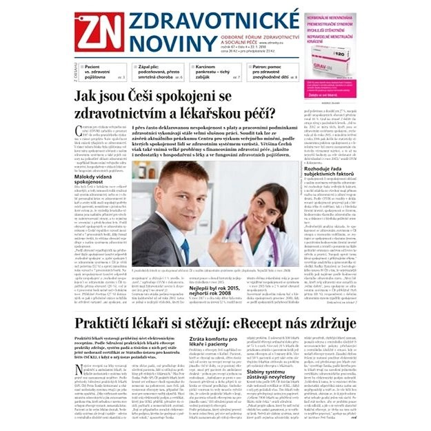 Zdravotnické noviny - pro lékaře - 4/2018 - Elektronické noviny