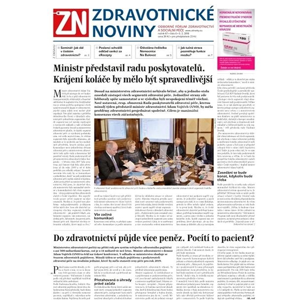 Zdravotnické noviny - pro lékaře - 6/2018 - Elektronické noviny