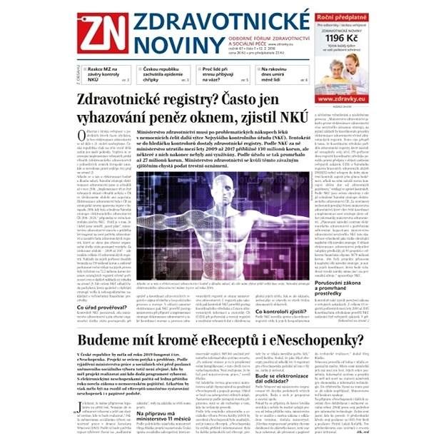 Zdravotnické noviny - pro lékaře - 7/2018 - Elektronické noviny