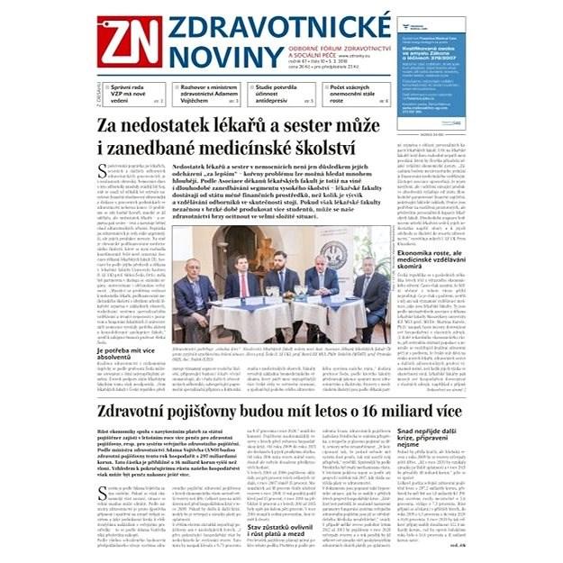 Zdravotnické noviny - pro lékaře - 10/2018 - Elektronické noviny