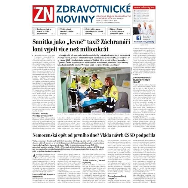 Zdravotnické noviny - pro lékaře - 13/2018 - Elektronické noviny