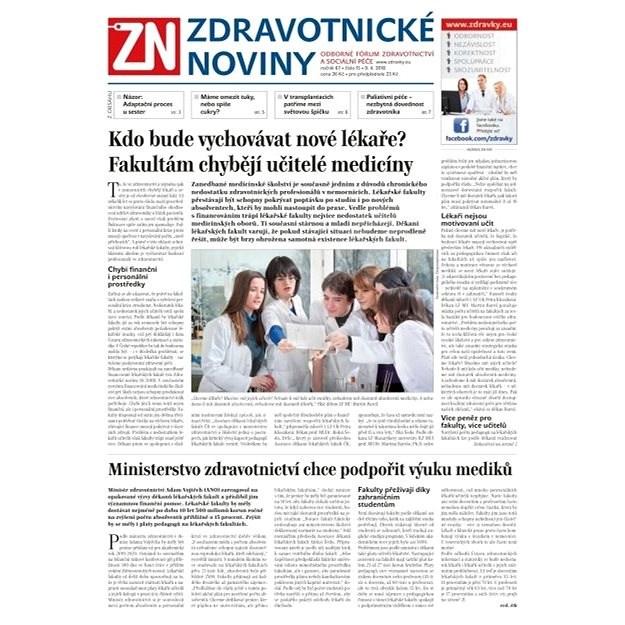Zdravotnické noviny - pro lékaře - 15/2018 - Elektronické noviny