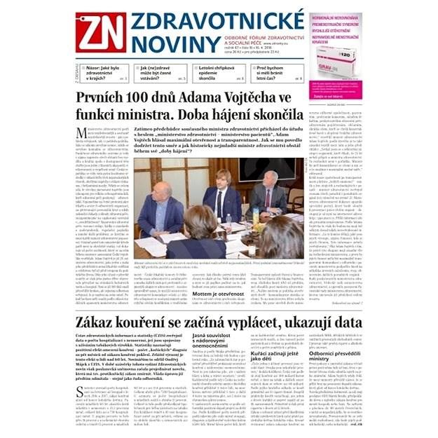 Zdravotnické noviny - pro lékaře - 16/2018 - Elektronické noviny
