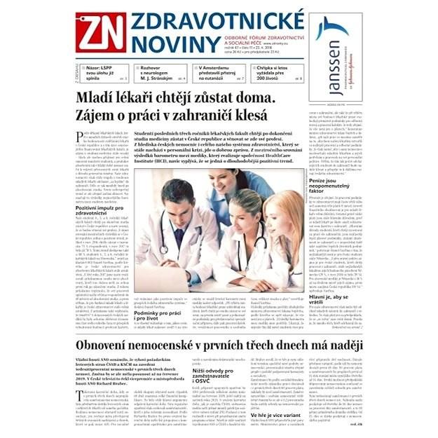 Zdravotnické noviny - pro lékaře - 17/2018 - Elektronické noviny