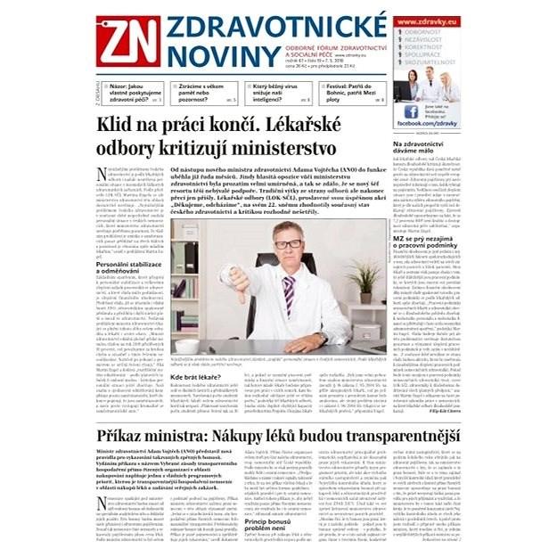 Zdravotnické noviny - pro lékaře - 19/2018 - Elektronické noviny