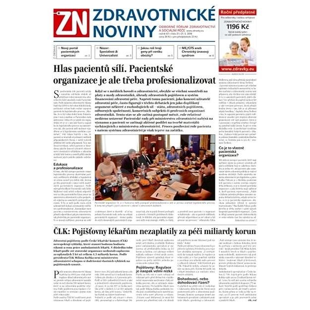 Zdravotnické noviny - pro lékaře - 21/2018 - Elektronické noviny
