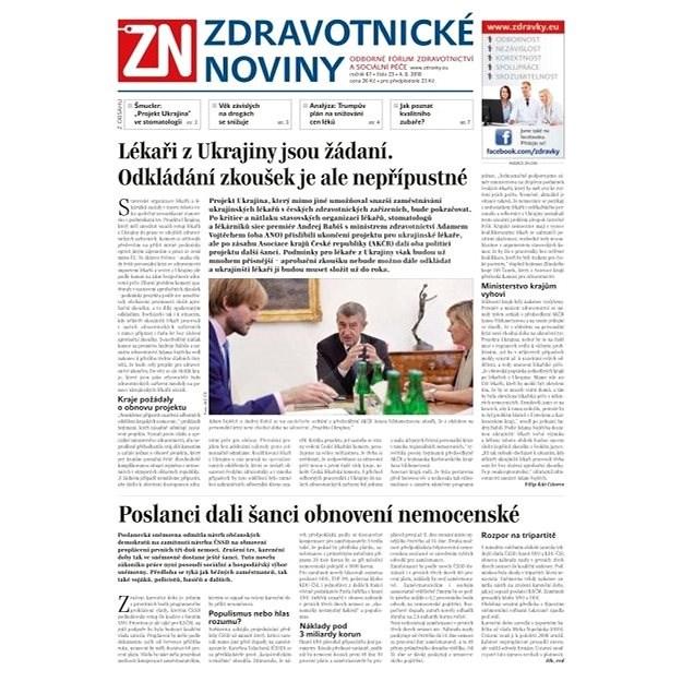 Zdravotnické noviny - pro lékaře - 23/2018 - Elektronické noviny