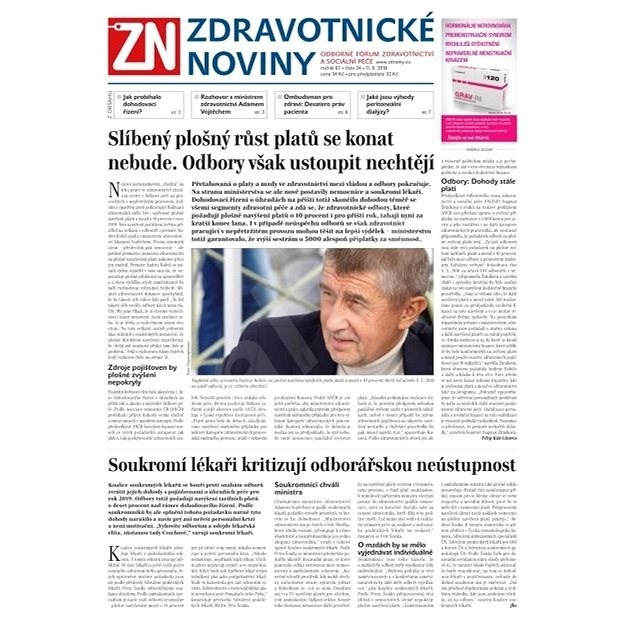 Zdravotnické noviny - pro lékaře - 24/2018 - Elektronické noviny
