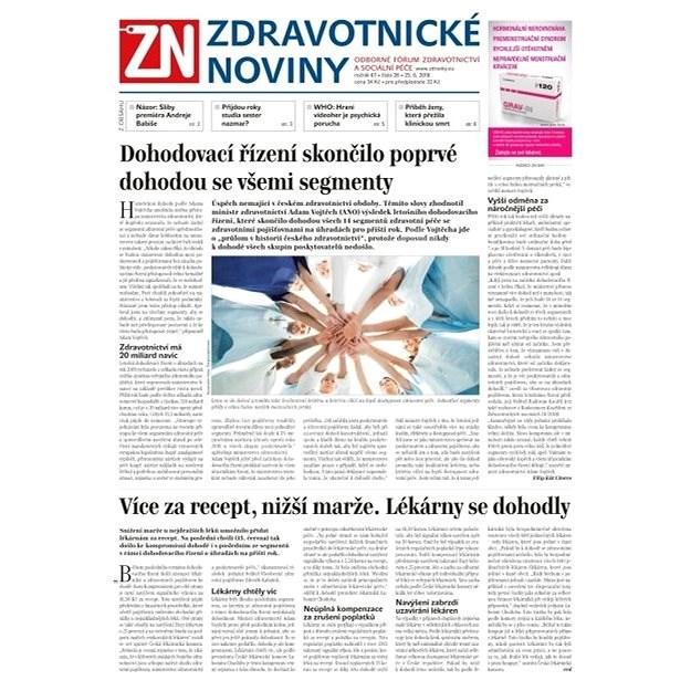 Zdravotnické noviny - pro lékaře - 26/2018 - Elektronické noviny
