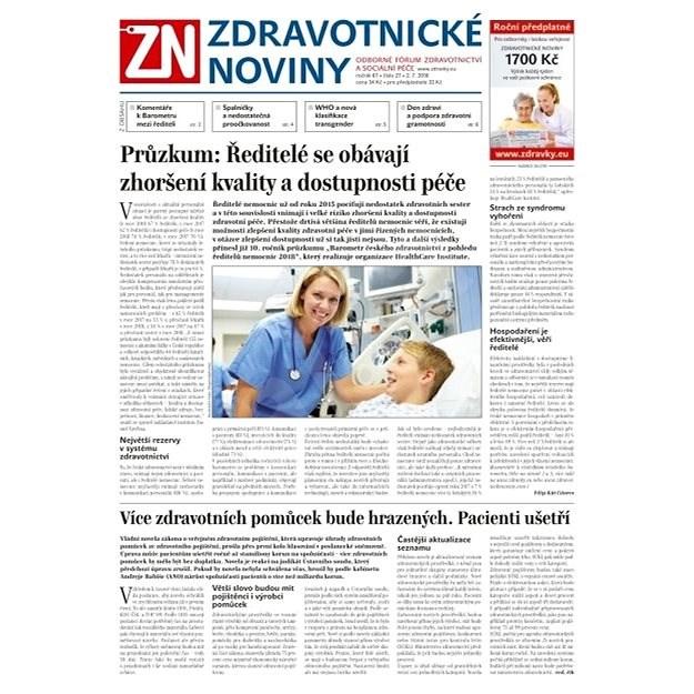 Zdravotnické noviny - pro lékaře - 27/2018 - Elektronické noviny