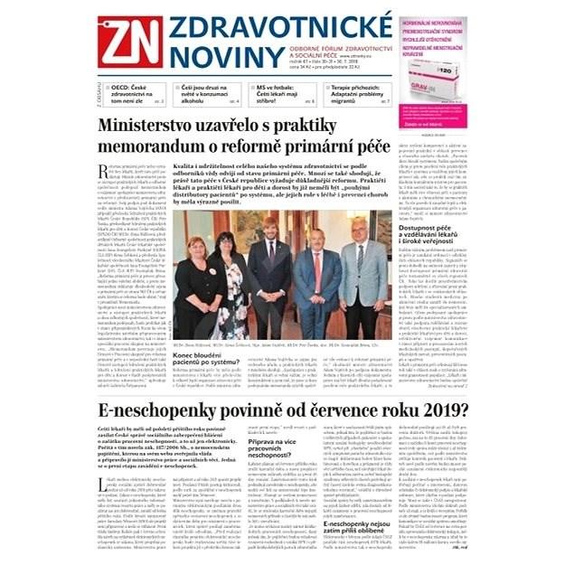 Zdravotnické noviny - pro lékaře - 30/2018 - Elektronické noviny