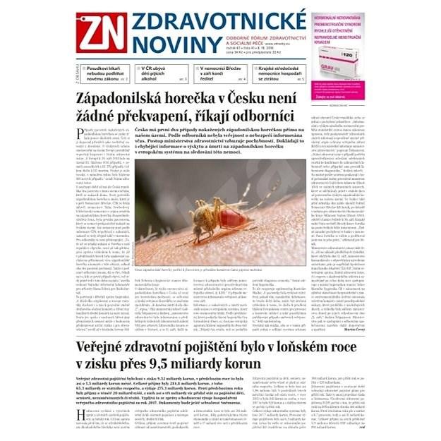 Zdravotnické noviny - pro lékaře - 41/2018 - Elektronické noviny
