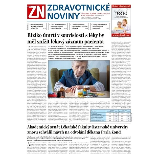 Zdravotnické noviny - pro lékaře - 42/2018 - Elektronické noviny