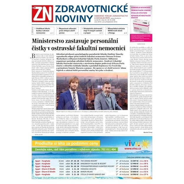 Zdravotnické noviny - pro lékaře - 43/2018 - Elektronické noviny