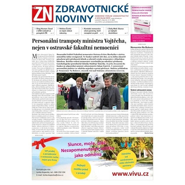 Zdravotnické noviny - pro lékaře - 45/2018 - Elektronické noviny