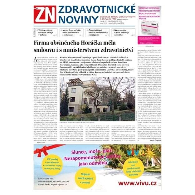 Zdravotnické noviny - pro lékaře - 50/2018 - Elektronické noviny