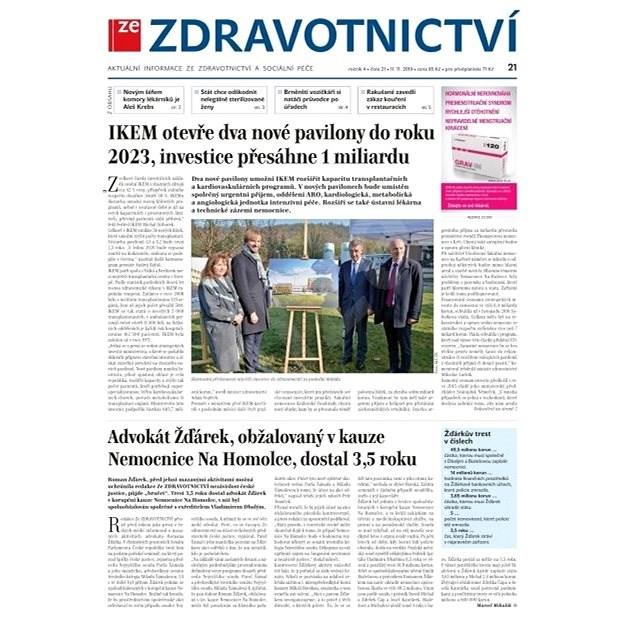 Ze zdravotnictví + PROFI Medicína - 21/2019 - Elektronické noviny