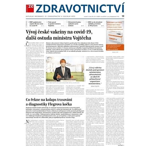 Ze zdravotnictví + PROFI Medicína - 19/2020 - Elektronické noviny