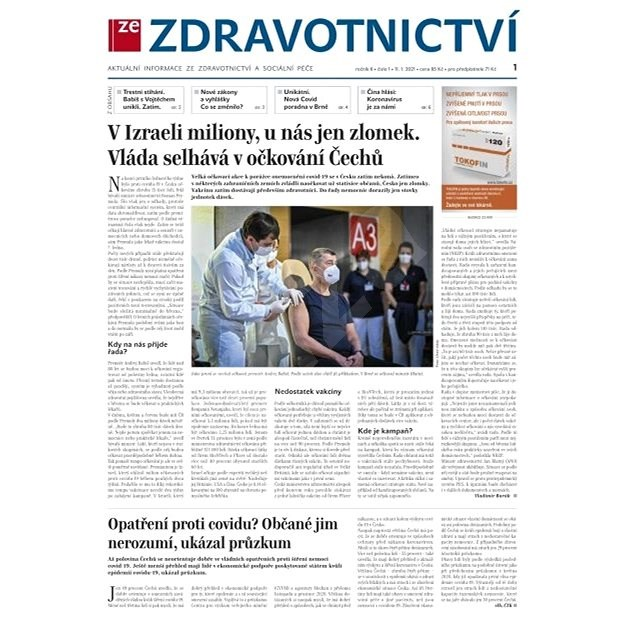 Ze zdravotnictví + PROFI Medicína - 1/2021 - Elektronické noviny