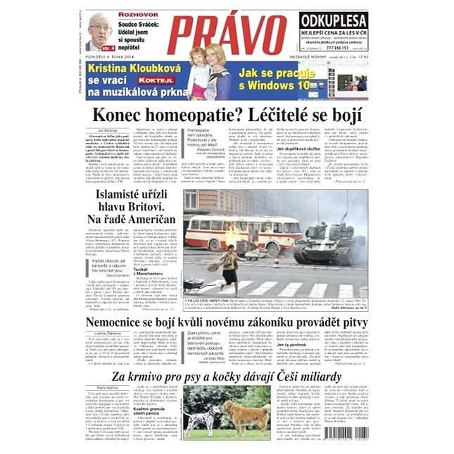 Právo - 06-10-2014 - Elektronické noviny