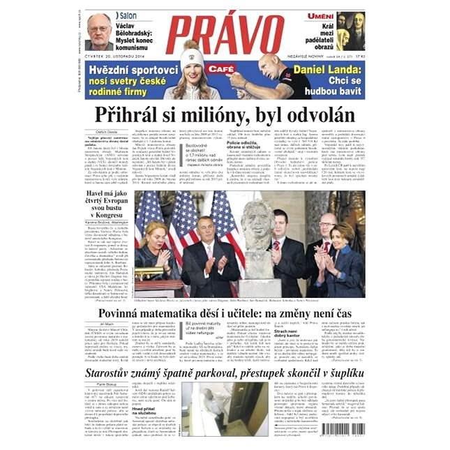 Právo - 20-11-2014 - Elektronické noviny