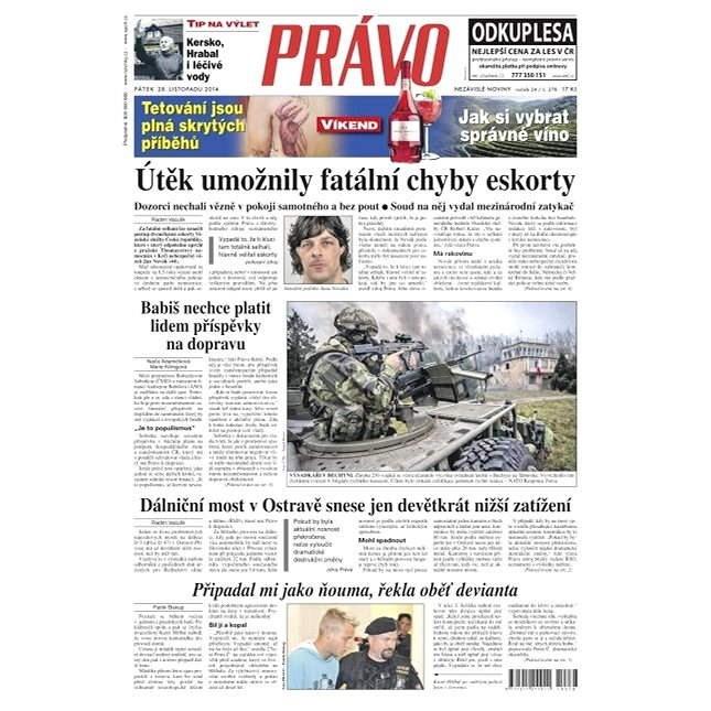 Právo - 28-11-2014 - Elektronické noviny