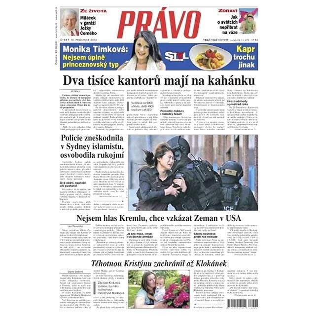 Právo - 16-12-2014 - Elektronické noviny