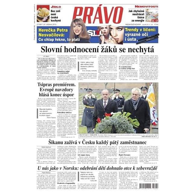 Právo - 27-01-2015 - Elektronické noviny