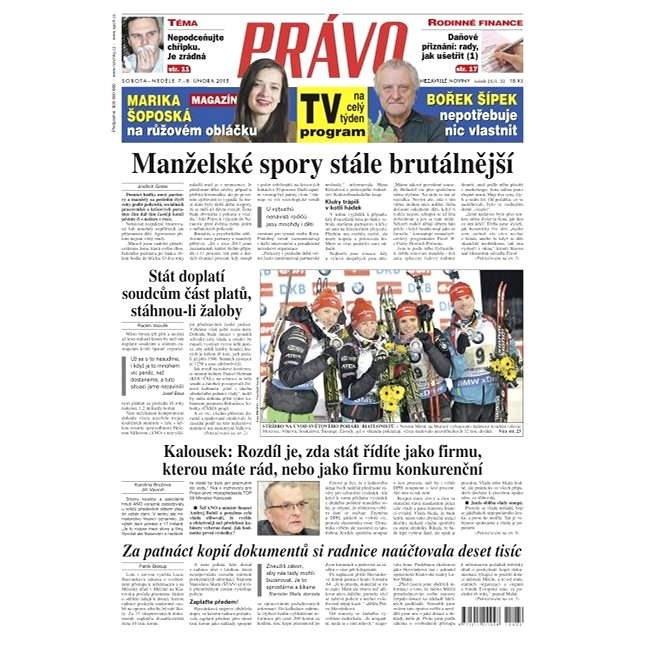 Právo - 07-02-2015 - Elektronické noviny