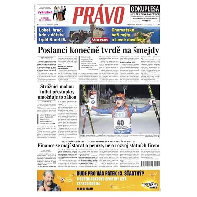 Právo - 13-03-2015 - Elektronické noviny